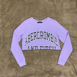 ABERCROMBIE & FITCH Crewneck Cropped Logo Sweater